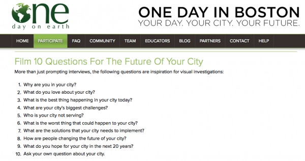 ONE DAY IN BOSTON WEB QUESTIONS