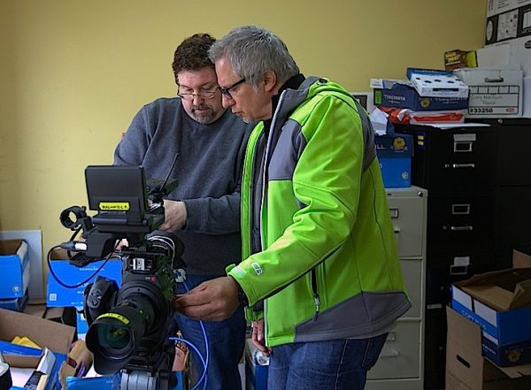 Checking C300 camera settings with Todd Mahoney. Photo by Pictures From The Sky