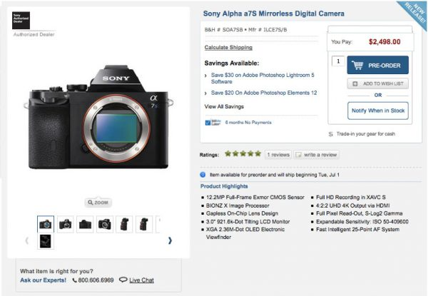 If you want a PAL capable a7S think twice before clicking the 'buy' button