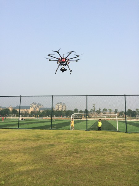 Taking flight over the soccer academy