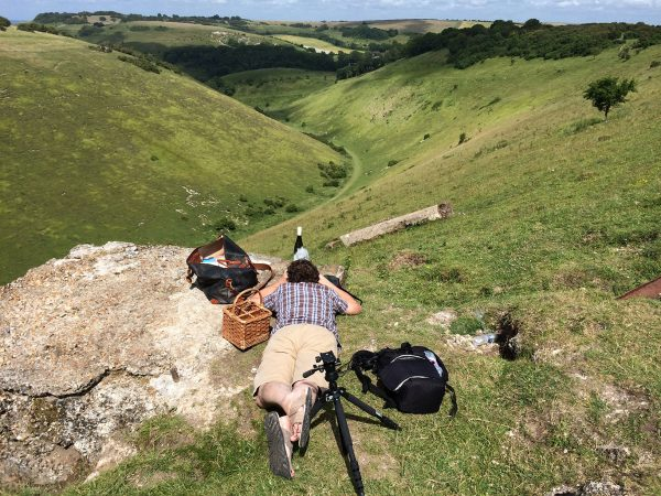 Shooting One Minute Wine at the Devil's Dyke