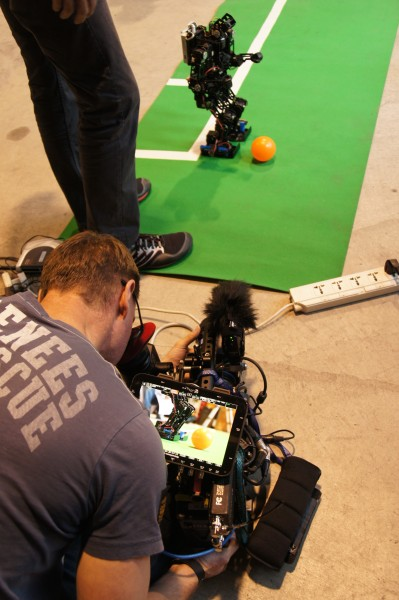 On location shooting the 'Humanoids' documentary for Aljazeera with the Odyssey 7Q