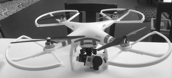 The DJI Phantom 2 with Zenmuse H3-2D gimbal and GoPro