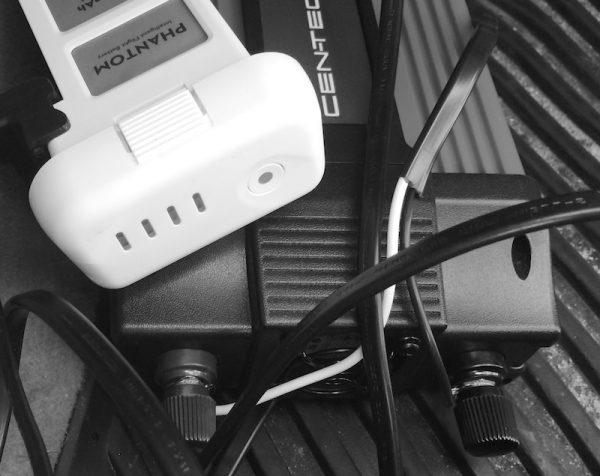 Charging the DJI Phantom 2 battery using an inverter
