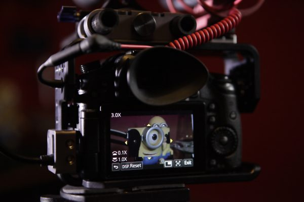 The GH4 safely wrapped in the Viewfactor Contineo cage