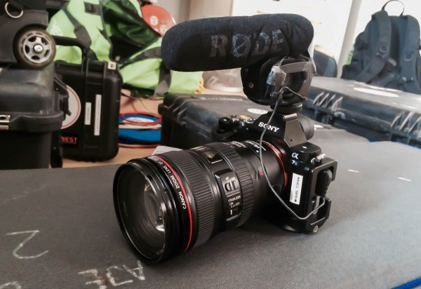 The Rode Videomic Pro is a good option for the a7S