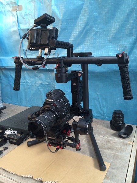 The DJI Ronin set up with Canon C300