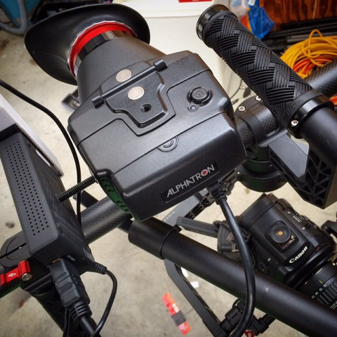 The Alphatron EVF works well on the Ronin