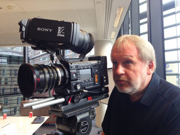 Paul Ream with his Sony F5