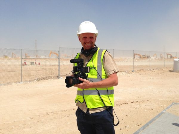 At the site of the Al Wakrah stadium, Qatar. It is the first World Cup venue to be built.