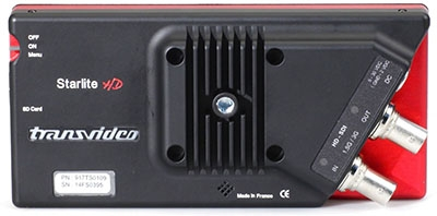 The rear of the StarliteHD showing the 3G-SDI connectors