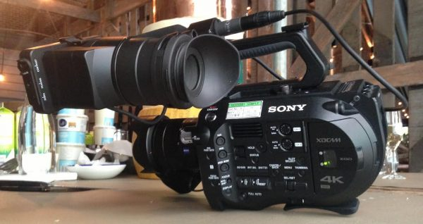 The FS7 came equipped with a Sony/Zeiss 24-70mm lens FE lens