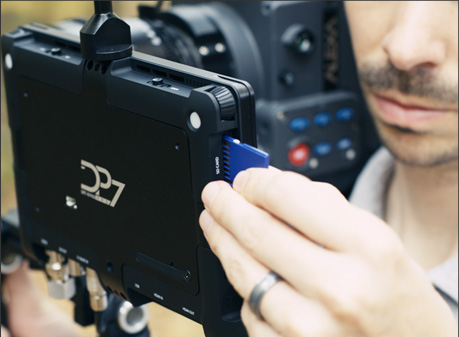 The DP7 Pro can load and save LUT information to SD cards