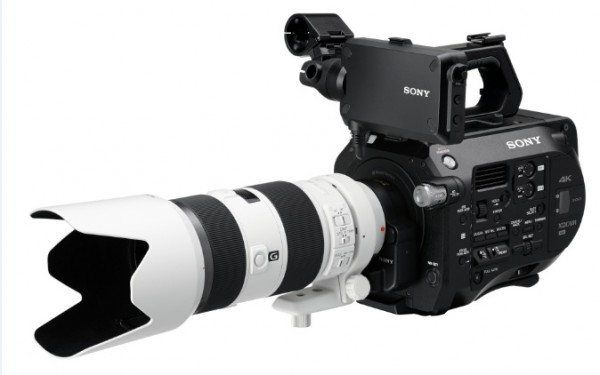The FS7 with Sony's own 70-200mm lens