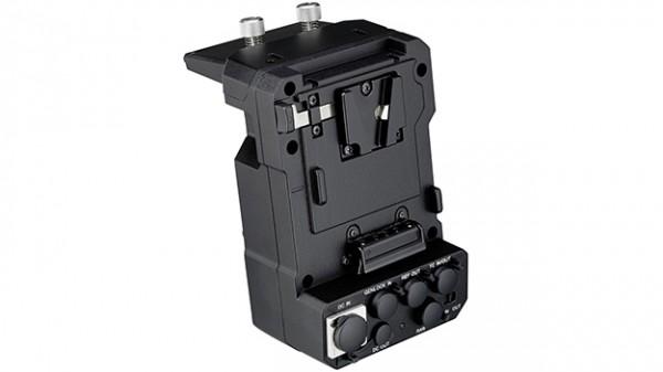 The Sony XDCA-FS7 v-lock extension pack