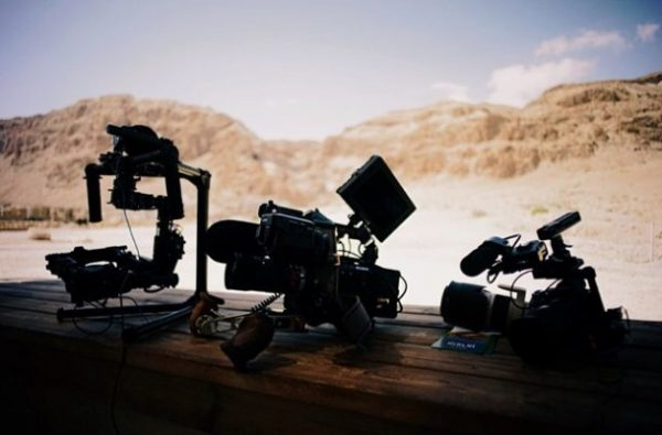 Sony cameras including an a7S on a MoVI ready to shoot. Photo courtesy of Philip Bloom