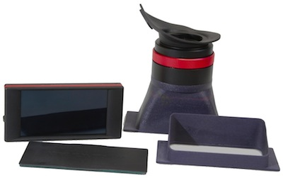 A range of accessories includes a sunhood and also a loupe