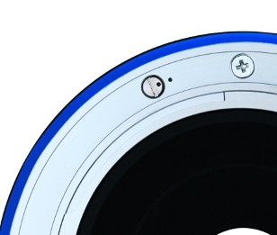 A special tool is used to engage the declick mechanism on the lens mount