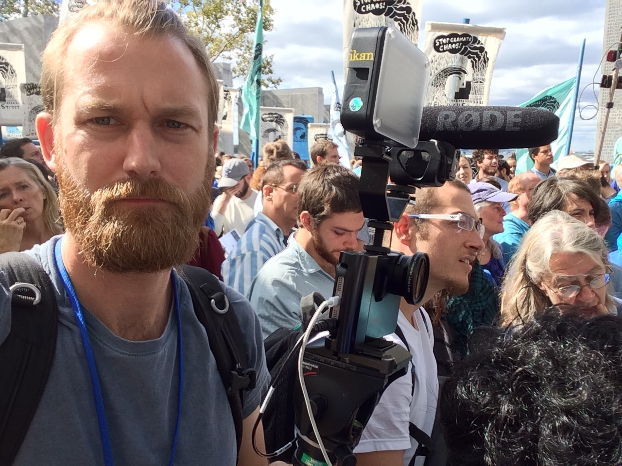Mobile videojournalism: Japhet Weeks shoots NYC Climate march protests on iPhone for AJ+