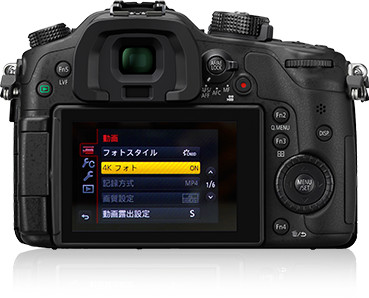 The GH4 in 4K photo mode (in Japanese menu)