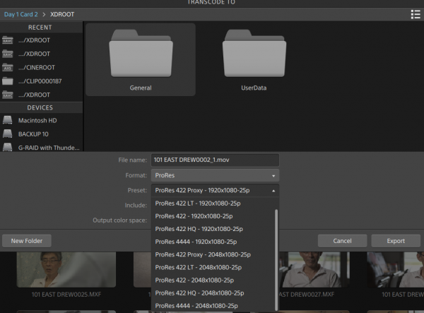 Transcoding to Apple ProRes is a welcome option