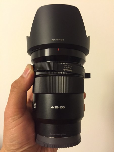 The Sony 18-105mm f4 PZ E-mount lens