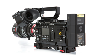 The Deity Lithium Manganese battery on a Sony F55