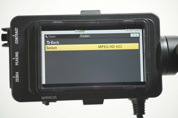 MPEG recording is available alongside AVCHD