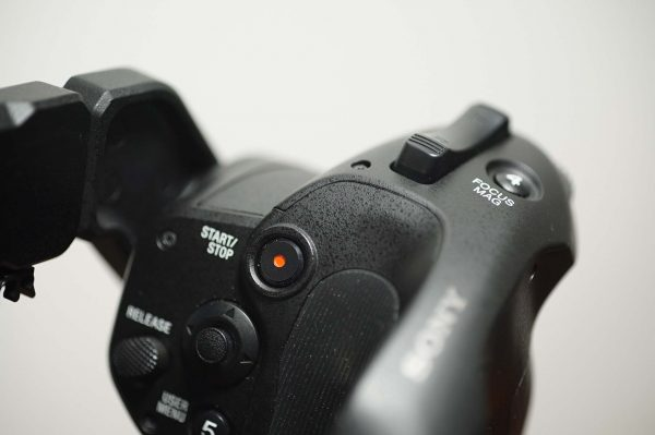 The FS7 control grip will require muscle memory re-education for Canon users