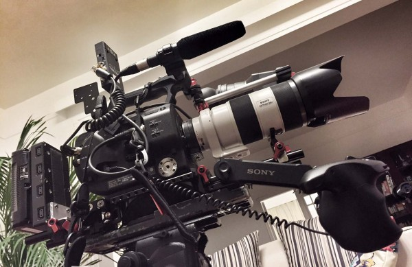 The FS7 'big rig' with Zacuto VCT plate
