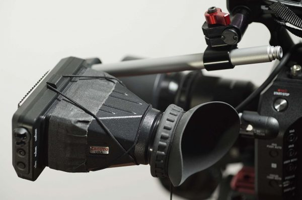 I replaced the EVF rod, clamp and loupe with Zacuto parts