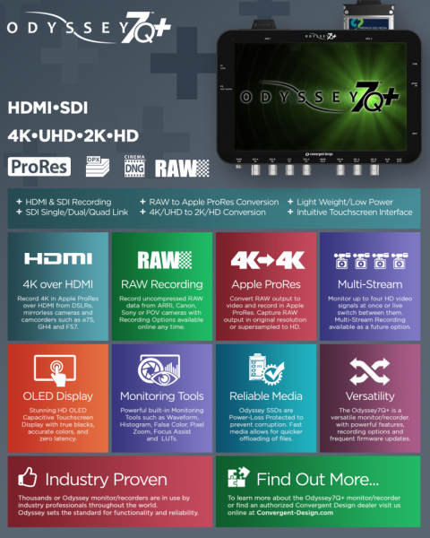 Odyssey 7Q+ features