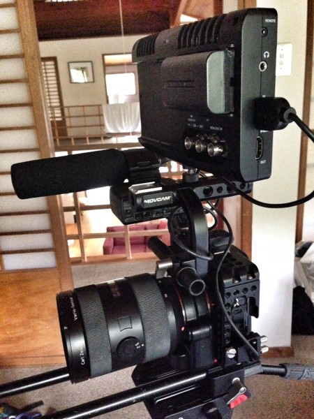 The Atomos Shogun with Sony a7S and Movcam cage