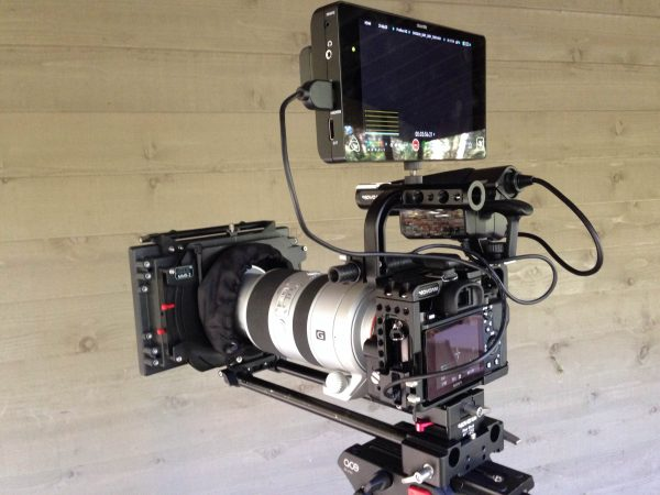 The Shogun with the  a7S, Movcam cage and ARRI mattebox