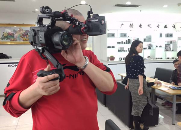 The Gratical works well with the Sony FS7 - but you will lose magnification from the handgrip