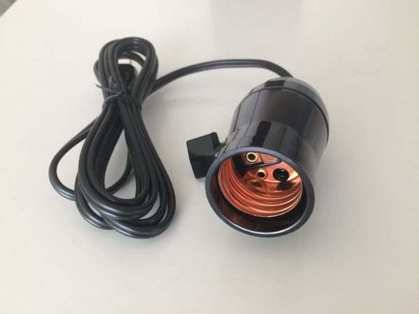 An E26 socket and power cable can be bought for under $10