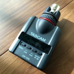Tascam DR-10X micro audio recorder with XLR connection