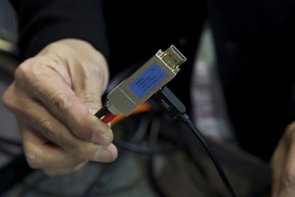The 4K HDMI signal gets converted to fibre optic inside the actual HDMI connector