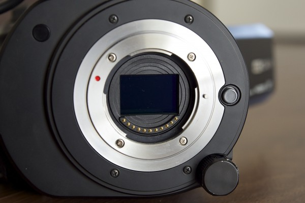 The GY-LS300 features a native active Micro 4/3 mount