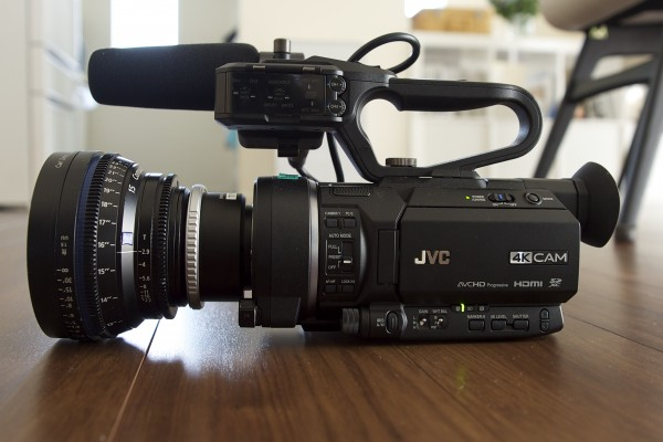 The camera with a Zeiss 15mm T2.9 CP2 lens