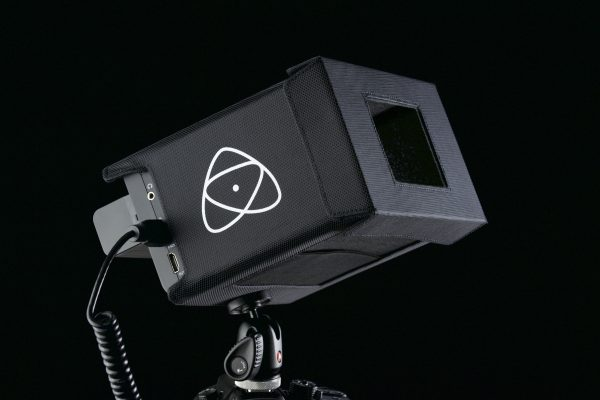The Atomos sun hood in black