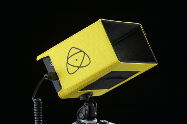The Atomos sun hood in yellow