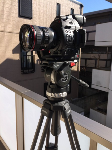 The C100 Mark II and Sachtler ACE tripod
