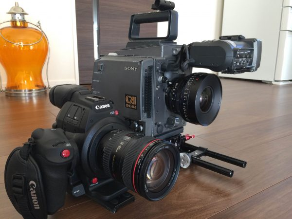 A feature of the C100 Mark II is its compact size.