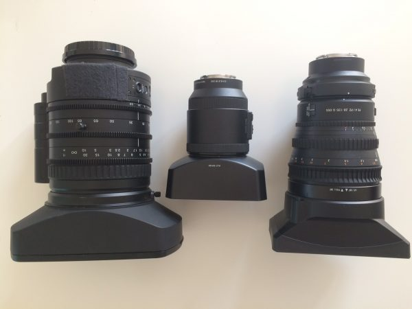 The Sony 18-252mm FZ, Sony 18-200mm E mount and the 28-135mm FE.