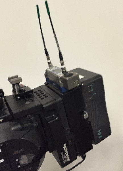 The Ambient VSlot wireless receiver adapter on a FS7 setup
