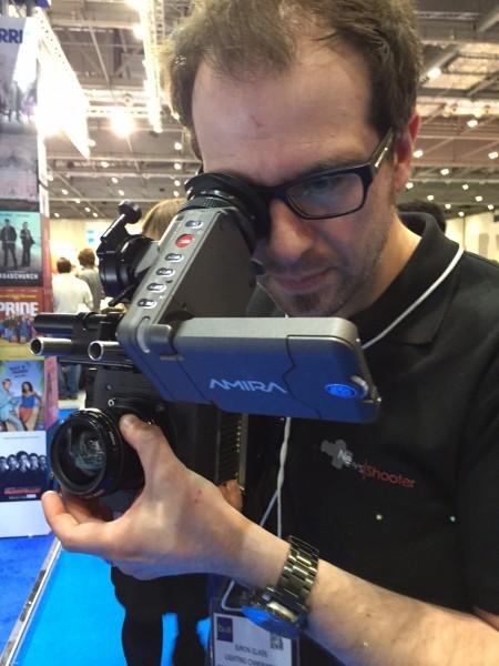 Newsshooter's Simon Glass shooting with the ALEXA MINI