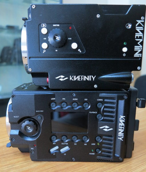The KiniMINI 4K (top) sitting on the KiniMAX 6K