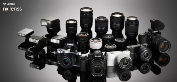 The NX500 features a proprietry NX mount