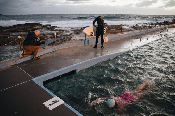 Jason with the Varicam 35 at Dee Why rockpool